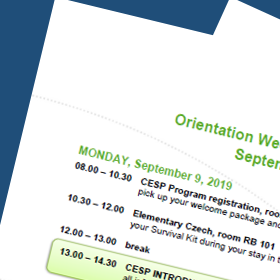 Preliminary Programme of Orientation Week Spring 2020
